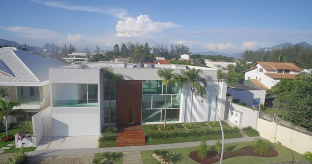 casa de luxo fotografias aereas barra da tijuca drone
